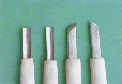 画像1: 白染彫刻刀(各1本)